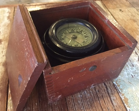 Tiny Salvaged American Compass By Wilcox Crittenden Co Middletown CT Appx 4 3 Square Face 2